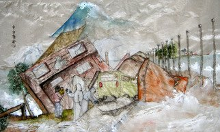 Artist: Debbi Chan - Title: tsunami two - Medium: Watercolor - Year: 2011