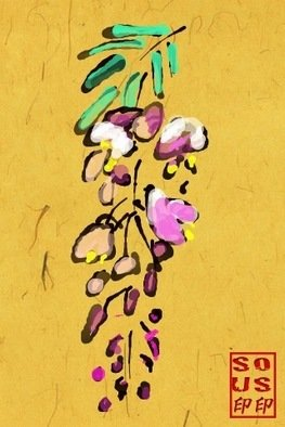 Debbi Chan Artwork wisteria , 2011 Digital Art, Botanical