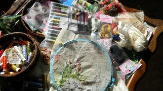 Debbi Chan: 'working embroidery', 2011 Color Photograph, Still Life. Artist Description:      photos from idaho.           ...