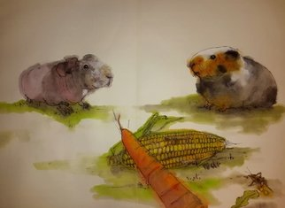 Debbi Chan Artwork world meet guinea pigs  album, 2015 Artistic Book, Animals