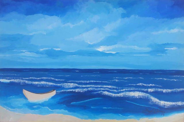 Artist Gregory Roberson. 'Blue Horizon' Artwork Image, Created in 2015, Original Painting Acrylic. #art #artist
