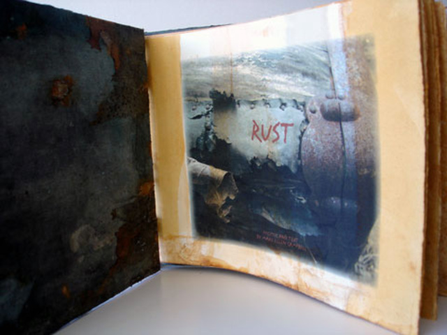 Mary-Ellen Campbell  'Rust Book Interior', created in 2006, Original Artistic Book.