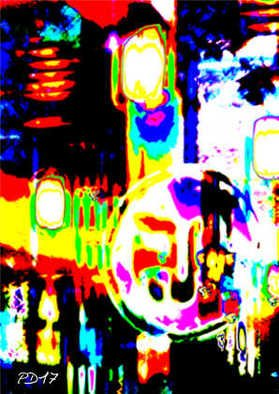Peter Dunckelmann: 'city at night', 2017 Digital Photograph, Abstract Landscape. Artist Description: digital art, abstract, abstract art, free- form, imagination, creatively interesting compositions, ...