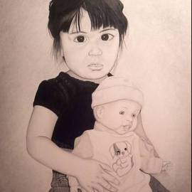 William Mccowan: 'Nicolle', 2011 Pencil Drawing, Children. Artist Description:   Nicholle with doll   ...