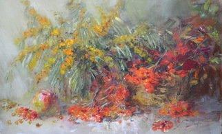Artist: Spasenov Vitaliy - Title: Viburnum and buckthorn - Medium: Oil Painting - Year: 2014