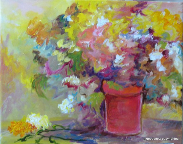 Nancy Goodenow  'Flowers In Sun', created in 2011, Original Giclee Reproduction.
