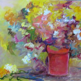 Nancy Goodenow Artwork Flowers in sun, 2011 Acrylic Painting, Floral