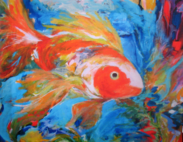 Nancy Goodenow  'Koi', created in 2015, Original Giclee Reproduction.