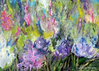 Artist: Nancy Goodenow - Title: flower garden - Medium: Acrylic Painting - Year: 2011
