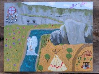 Artist: Kelly Etheridge - Title: Sacred Land - Medium: Acrylic Painting - Year: 2015