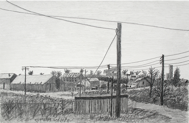 Artist Keith Thrash. 'Webb Warehouses' Artwork Image, Created in 1983, Original Drawing Other. #art #artist