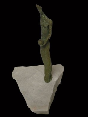 Stephanie Amos Artwork Urania, 2007 Bronze Sculpture, Abstract Figurative