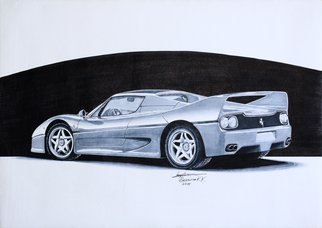 Sreejith Krishnan  Kunjappan: 'ferrari f50', 2015 Marker Drawing, Automotive. Artist Description: This marker render is of the gorgeous Ferrari F50. A successor to the legendary F40, this was not quite a successful model, but it dint matter. It is still such a gorgeous automobile to look at. I am in love with the smooth flowing shoulder line that ends ...