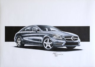 Sreejith Krishnan  Kunjappan: 'mercedes benz cls 2011', 2015 Marker Drawing, Automotive. Artist Description: This car will always remain one of my favorite Mercedes models. The 2011 CLS was a gorgeous design with proper proportions and all the lines and muscles are exactly where they need to be on a car. Capturing the smooth flowing reflections on the car body was the ...