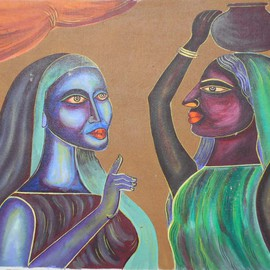 TWO VILLEGE WOMAN