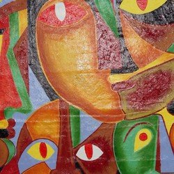 , Pluralism Through Colour, Abstract Figurative, $525