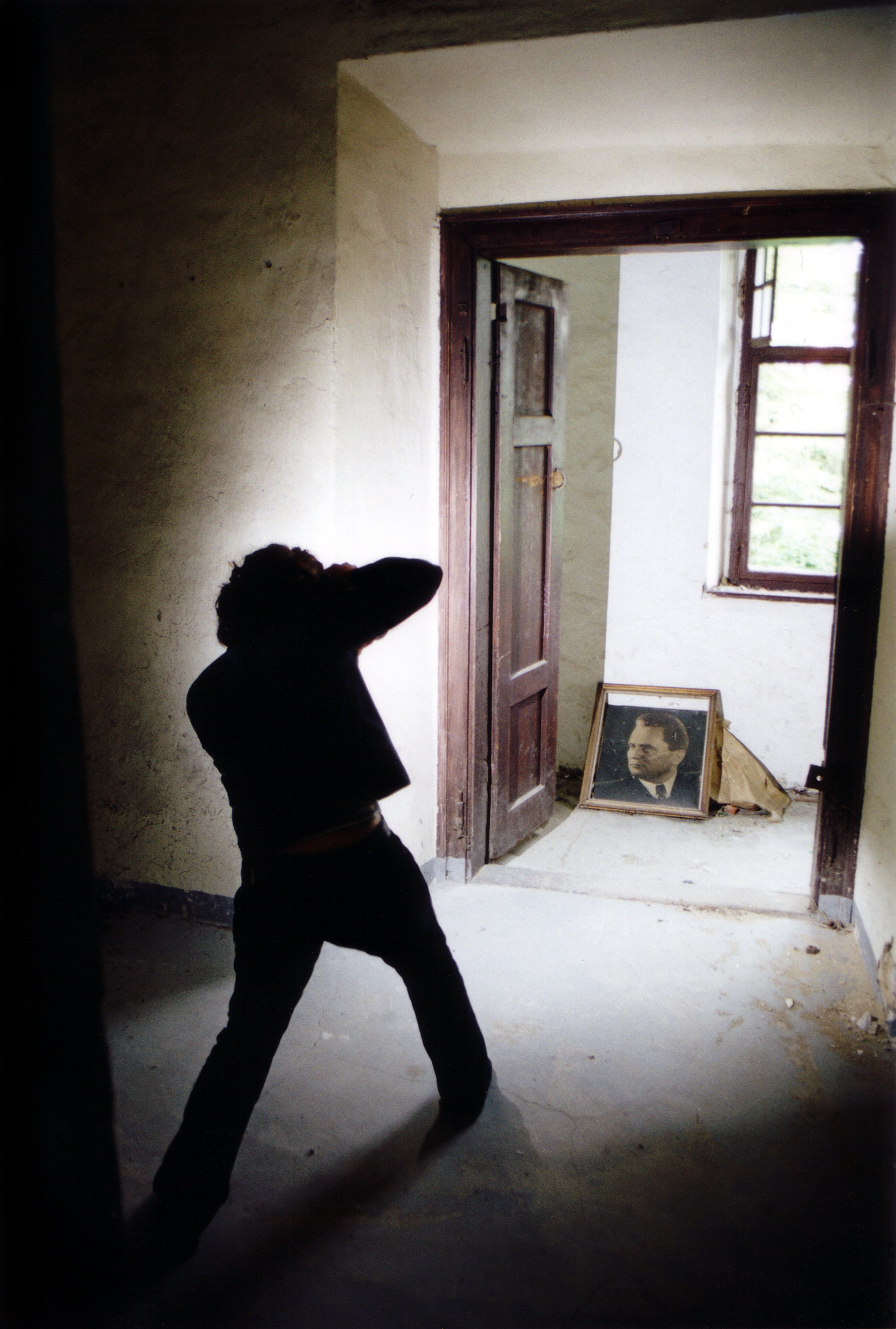 Tomislav Stajduhar: 'Portrait of a Portrait of a Portrait', 2003 Color Photograph, People. Artist Description: Portrait of a photographer taking a photo of an abandoned portrait in an ancient and derelict castle. ...