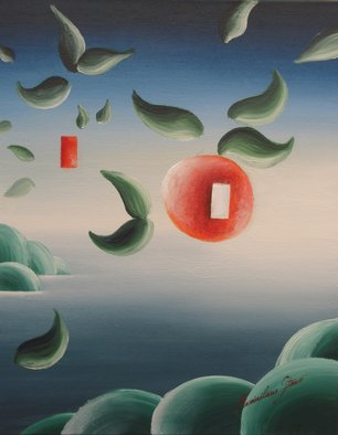 Massimiliano Stanco: 'Think Orange', 2004 Oil Painting, Surrealism.  Dream with open eyes ...