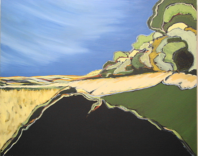 John Roof: Fields Of Summer, 2006 Acrylic Painting