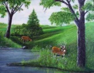 Susan Carmicle Artwork 'Dawns Light', 2004. Acrylic Painting. Animals. Artist Description: Acrylic Painting on Canvas......