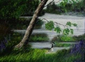 Susan Carmicle Artwork 'Summer Haven', 2004. Acrylic Painting. Animals. Artist Description: Acrylic Painting on Canvas Board......