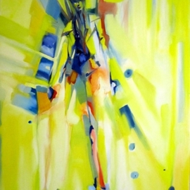 Ana Dapuzzo: 'Beyond Architecture and Fashion', 2011 Oil Painting, Fashion. Artist Description:  Express of new fashion relief and architecture lines, grown up after finished creative architecture project ...