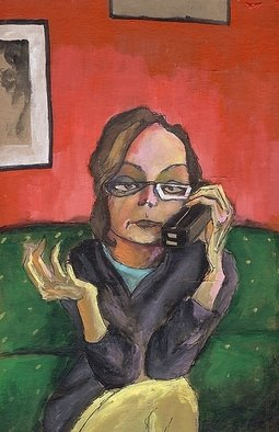 Mark Lese: 'the phone conversations are as clear through a wall as if there were no wall at all', 2006 Acrylic Painting, Undecided.