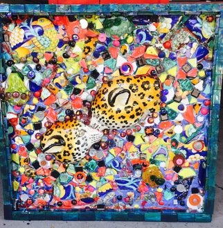 Stazzy Salkind: 'brotherly love', 2018 Mosaic, Love. Artist Description: My Mosiac is about the loss of my brother. The inseperable love and bond that continues in lie and in spirit. All the pieces included are from broken sentimental nostalgia that I created this mosaic with. ...