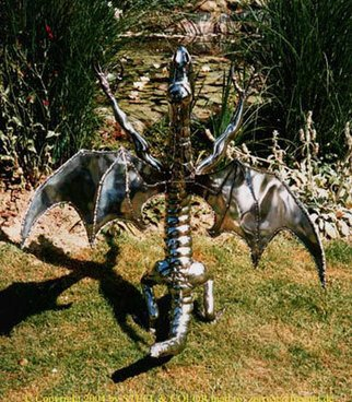 Henning Block: 'steeldragon', 2010 Steel Sculpture, Abstract Figurative. Artist Description:  Steeldragon of the second generation. Contemporary steel Art work.Manufactured Steeldragon sculpture from together welded sheet steel hollow bodies,  created with free forming air pressure modeling procedure, high- polished. ...