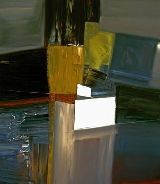 Stefan Fiedorowicz: 'A Dialouge With Your Fear', 2010 Oil Painting, Abstract. Rolled canvas shipped in a tube.  No frame.  ...
