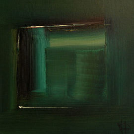 Stefan Fiedorowicz: 'Colourless green Idea', 2007 Oil Painting, Abstract. Artist Description: Viridian Series 2. Initially it was an idea looking for a place to happen. The strength in my emotion was like thunder in the air. I became intoxicated by the idea and felt unshackled. I choose viridian green, the darker side of spring green as the season is ...