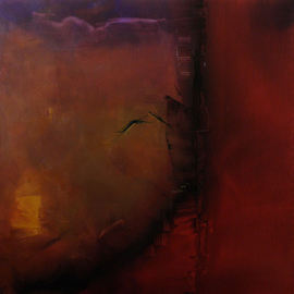 Stefan Fiedorowicz: 'Her Shadow Still Lingers Here', 2011 Oil Painting, Abstract. Artist Description: aEURoeOur shadows, a reservoir of human darknessaEURSFI painted this piece shortly after my mother had died.  I was feeling that she had not left this world and was still present in spirit. ...