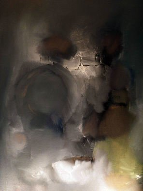 Stefan Fiedorowicz: 'We Need To Talk', 2013 Oil Painting, Abstract. Artist Description: aEURoeWe waited all day for the night. We screamed without a voice. Cried without tears. Spoke without words. aEUR...