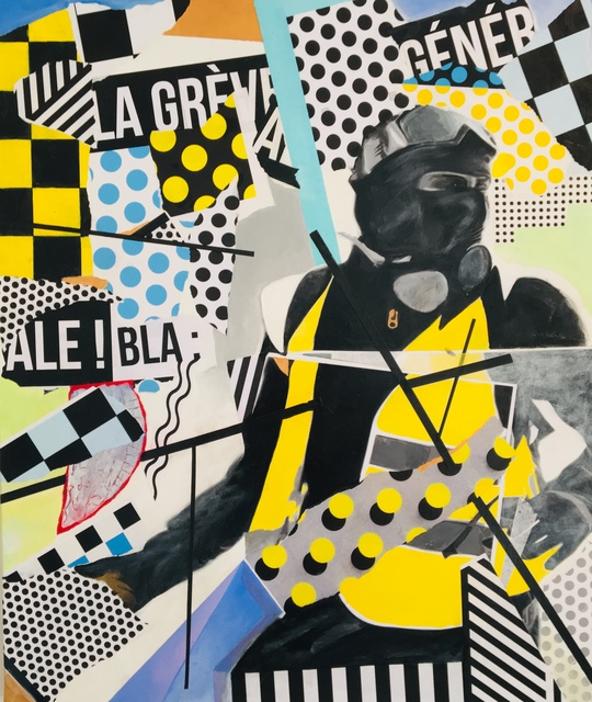 Steve Doan  'Saturday Yellow Fever', created in 2019, Original Collage.