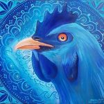 blue chicken mandala By Stephen Bibb