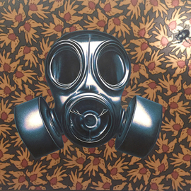 Stephen Hall: 'breathless', 2018 Acrylic Painting, Activism. Artist Description: My continuing commentary on the threat to our environment and species who live on it, including us. ...