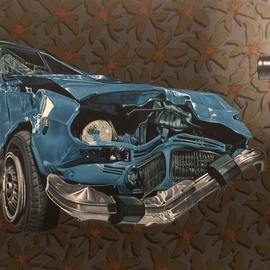 Stephen Hall: 'legacy', 2018 Acrylic Painting, Automotive. Artist Description: Continuing my musings on what we are doing to nature and what we are leaving our children.  ...