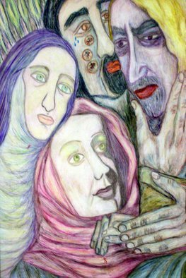 Stephen Mead: 'JudasKiss', 1999 Watercolor, Religious.   Religious Exploration, incorporated into the series Blue Heart Diary, part of the DVD Captioned Closeness, Indieflix. com.  ...