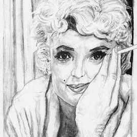 Stephen Mead Artwork Marilyn, 2000 Watercolor, Portrait