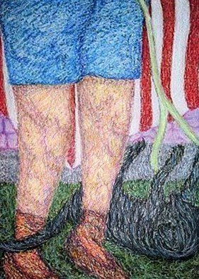 Stephen Mead: 'Remembering Mom', 2004 Mixed Media, Portrait. This is a Flag Day memory piece for my mother, Marie, incorporated into the series
