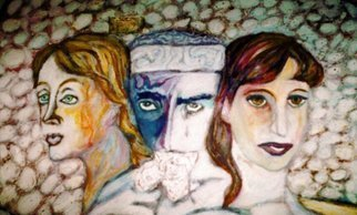 Stephen Mead Artwork ThreeMusesHaveICenterDetail, 1995 Mixed Media, Life