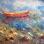 Little red dinghy 3 By Steve Scarborough