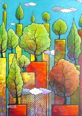 Artist: Giuseppe Sticchi - Title: autunno nel bosco - Medium: Acrylic Painting - Year: 2011