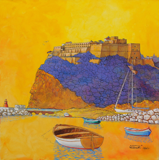 Giuseppe Sticchi  'Castello Nel Sole', created in 2010, Original Painting Other.