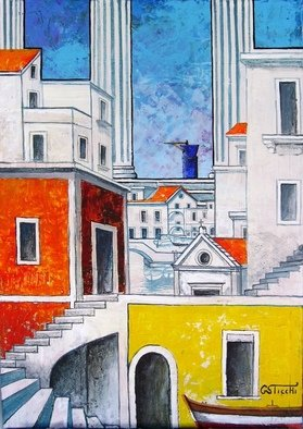 Artist: Giuseppe Sticchi - Title: il tempio ritrovato - Medium: Acrylic Painting - Year: 2011
