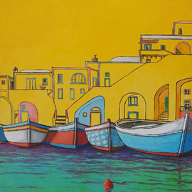 Giuseppe Sticchi Artwork procida, 2010 Other Painting, Surrealism