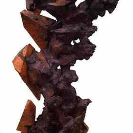 Daryl Stokes: 'Transition', 2009 Wood Sculpture, Abstract. Artist Description:  Dynamic abstract sculpture composed with several redwood burls that have been carved with chain saws, shaped with grinders and hand crafted to further enhance the natural forms. As this sculpture is viewed from one side to the other, the observer will see a distinct transformation in the wood ...