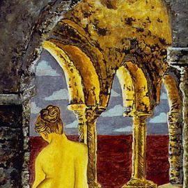Storm Hammond Artwork Doria Monastery, 1998 Oil Painting, Figurative