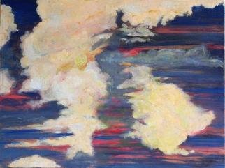 Storm Hammond: 'Evening Sky', 2005 Oil Painting, Inspirational.