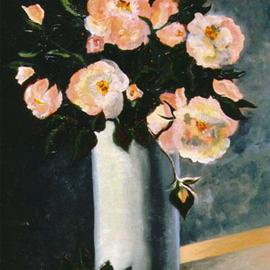 Storm Hammond Artwork Flowers, 2000 Oil Painting, Still Life
